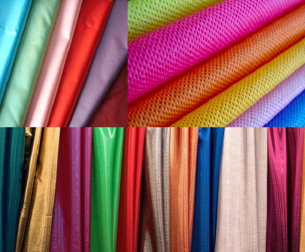 На фото – синтетические ткани для штор
