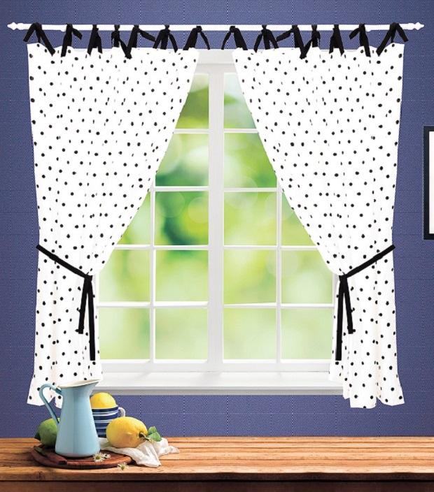 На фото – шторы из полиэстера